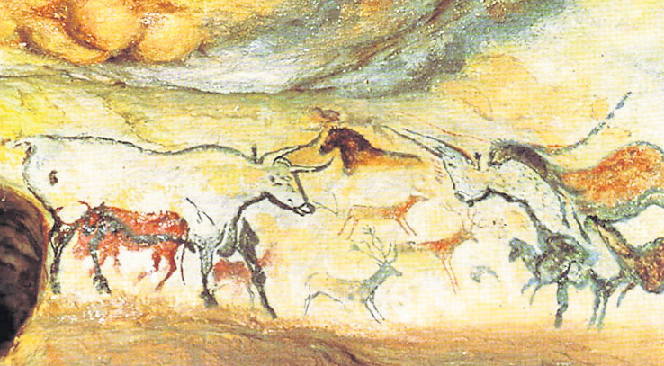 Lascaux cave paintings in France, estimated to be up to 20,000 years old | photo: Vimeo