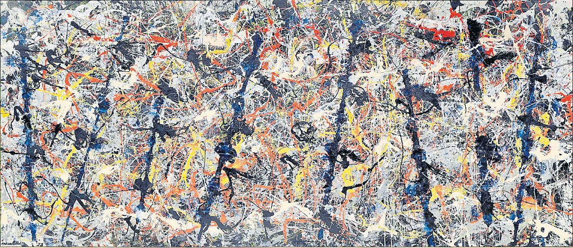 Jackson Pollock, Blue  212.1 x 488.9 cm National Gallery of Australia, Canberra | image: © The Pollock-Krasner Foundation ARS, NY and DACS London 2016
